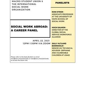Macro Student Union & International Social Work Organization -  Social Work Abroad: Career Panel