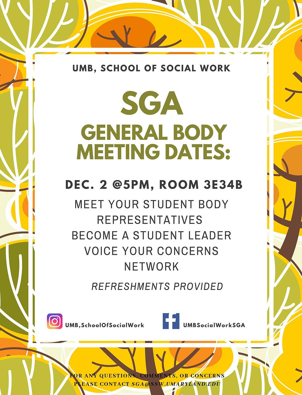 sga meeting poster
