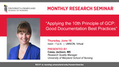 School of Nursing Monthly Research Seminar on Good Documentation Practices