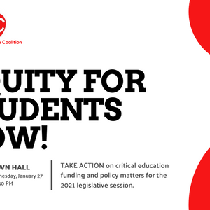 Town Hall Event: Equity for Students Now, Call to Action