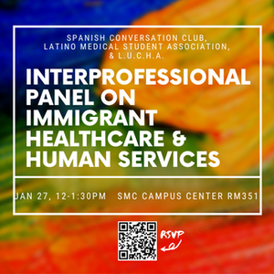Save the Date! Interprofessional Panel on January 27th: Immigrant Healthcare and Human Services