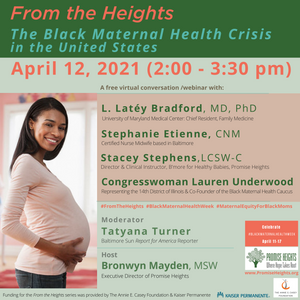 "Save The Date: April 12 ""The Black Maternal Health Crisis"""