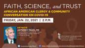 Faith, Science, and Trust: African American Clergy & Community Conversation on COVID-19