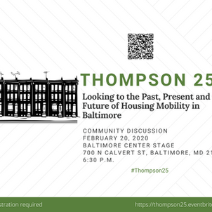 Looking to the Past, Present and Future of Housing Mobility in Baltimore