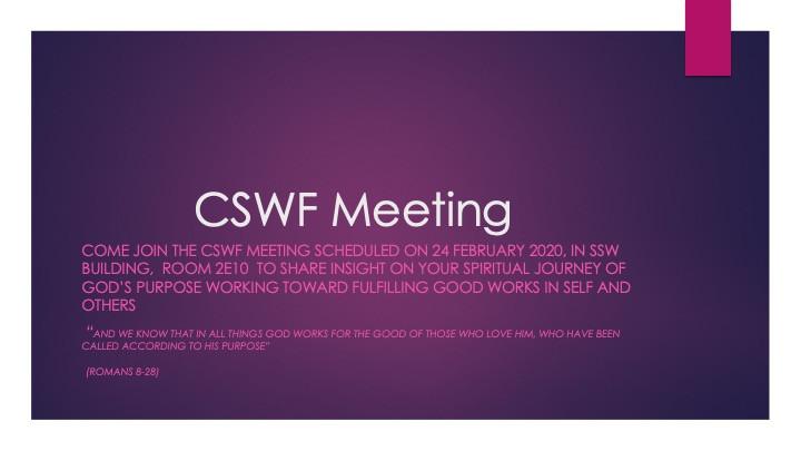 cswf meeting slide