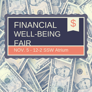 Student Financial Well-Being Fair on November 5, 12-2 p.m.