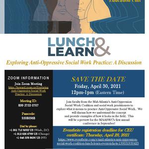 Lunch & Learn: Exploring Anti-Oppressive Social Work Practice