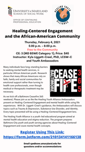 Free conference from the Healing Youth Alliance in celebration of the CeaseFire weekend in February
