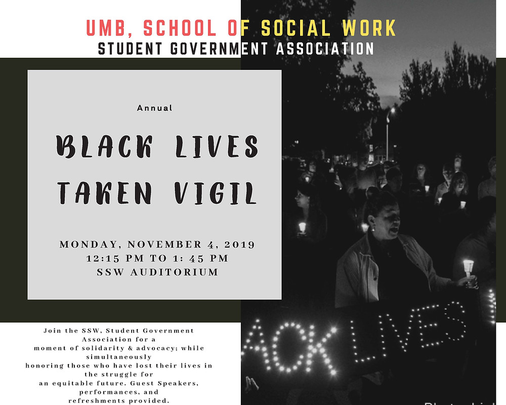 black lives taken vigil poster