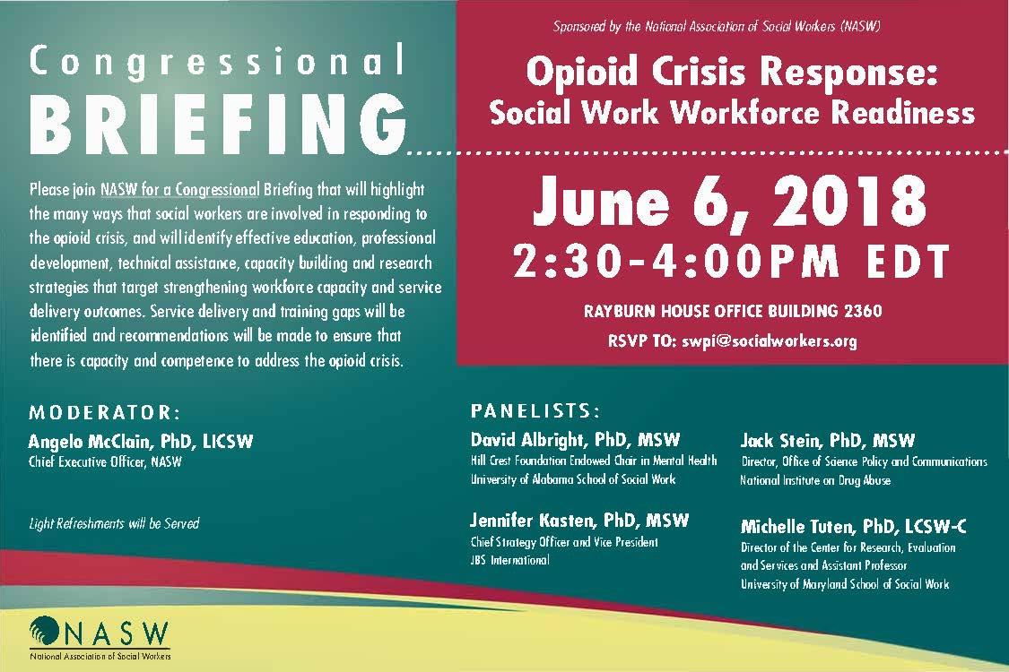 Congressional Briefing June 6 - Opioid Crisis Response ...