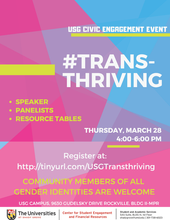 USG Civic Engagement Event: #Transthriving March 28