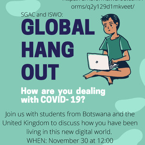 SGAC and ISWO Global Hangout - November 30!