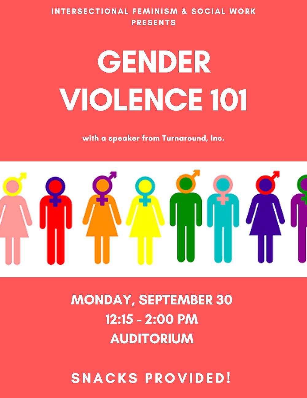 gender violence poster 101