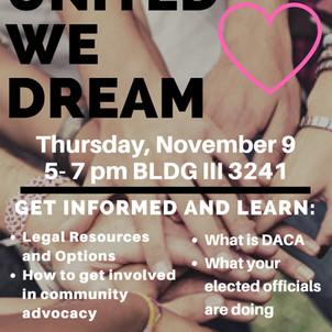 United We Dream Event at USG November 9