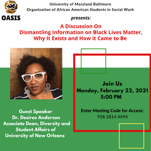 Join Us for a Guest Speaker discussing BLM on Monday, Feb 22nd at 5 pm