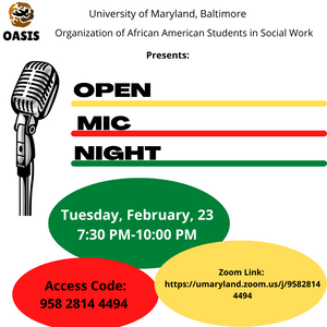 Join OASIS for Open Mic Night on Feb 23rd from 7:30 to 10 pm!