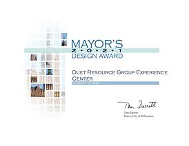 Duet Resource Group Experience Center 2021 Mayor's Design Award