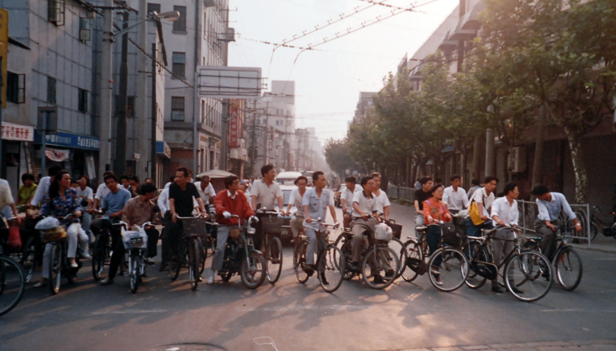 China Bicycles in street