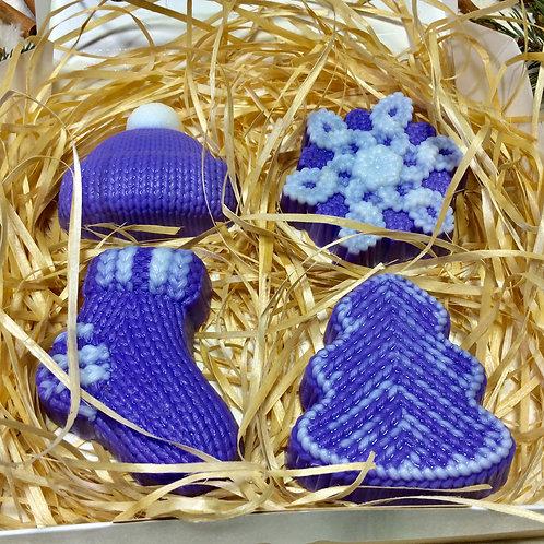 Новогодний набор мыла ручной работы купить в москве