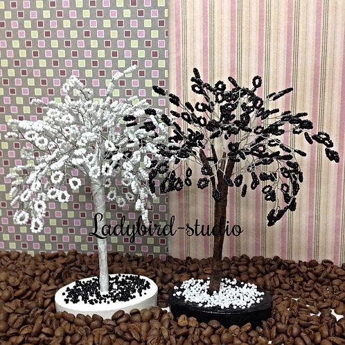 """Бисерные деревья """"Свадебный дуэт"""""""