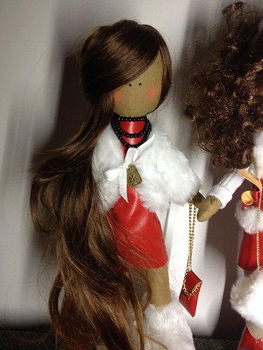 Стильные текстильные куклы