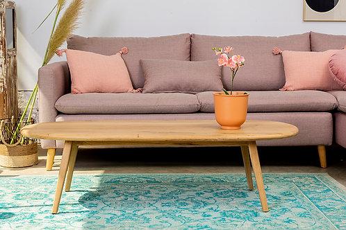 שולחן אליפטי מעץ אלון