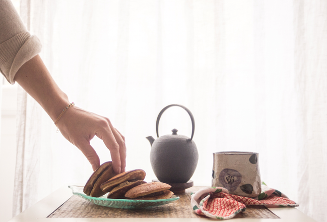 Wondering what Doraimon's cakes where? Here is the Dorayaki healthy recipe!