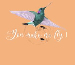 Humming bird free hand illustration