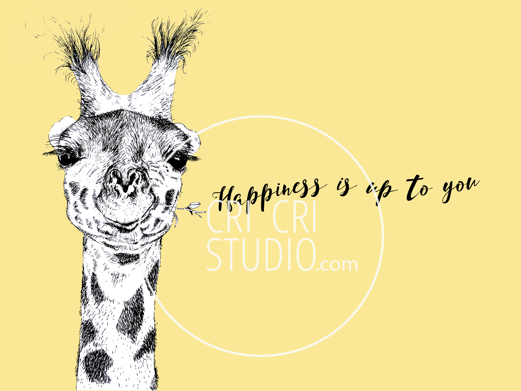 Happy Giraffe by Cri Cri Studio