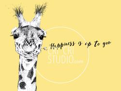 Happy Giraffe by Cri Cri Studio