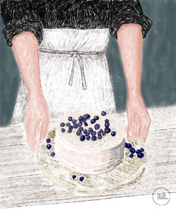 Organic cake! by Cri Cri Studio