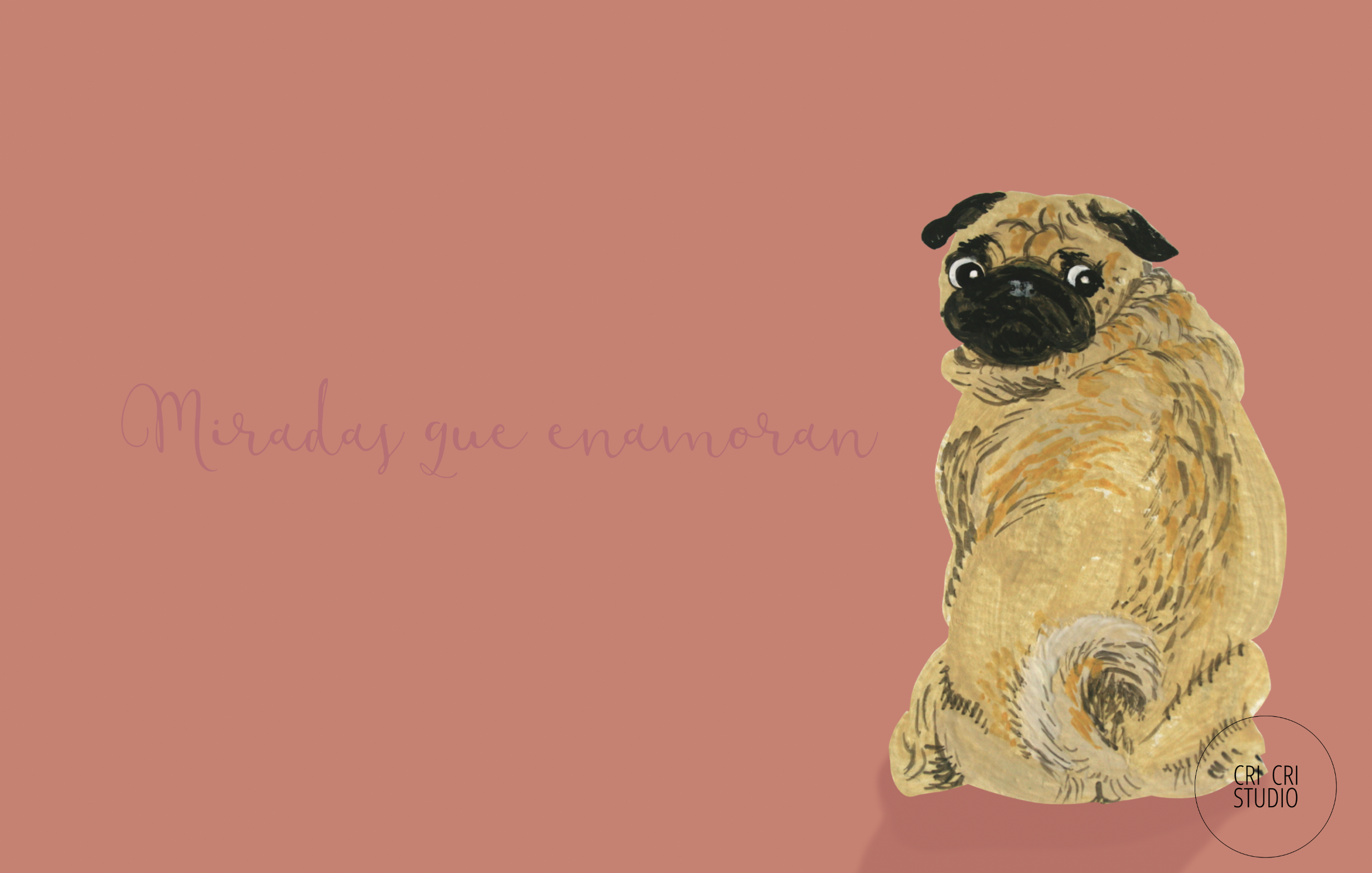 Pug illustration by Cri Cri Studio