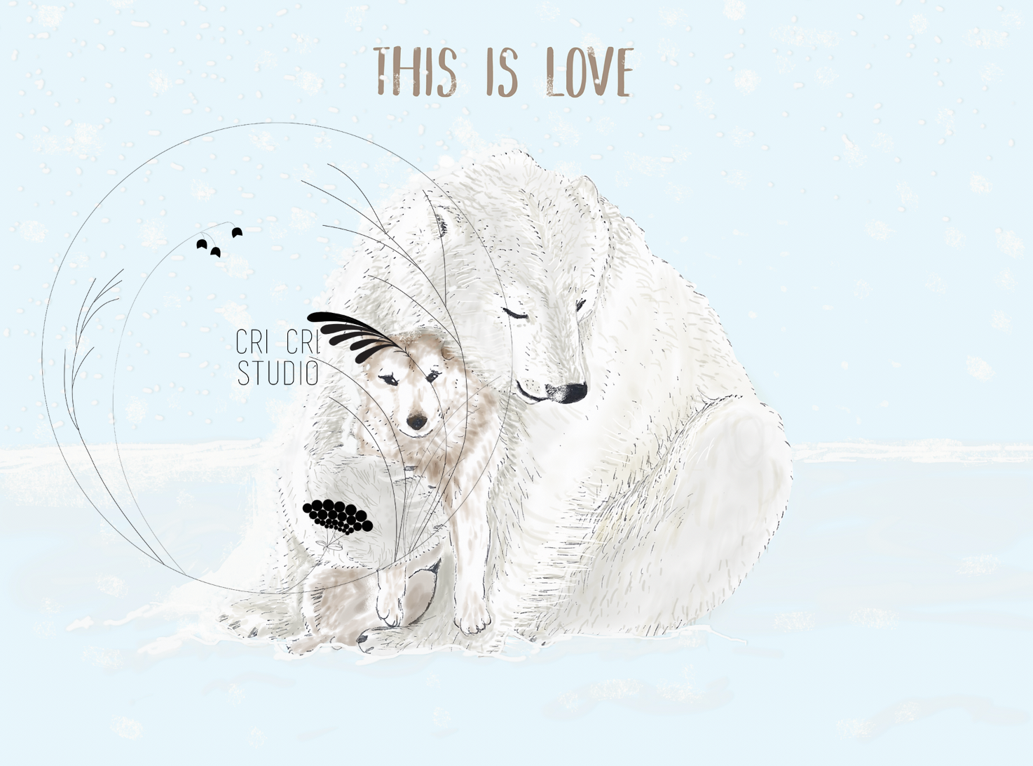 """This is love"", bear and wolf"