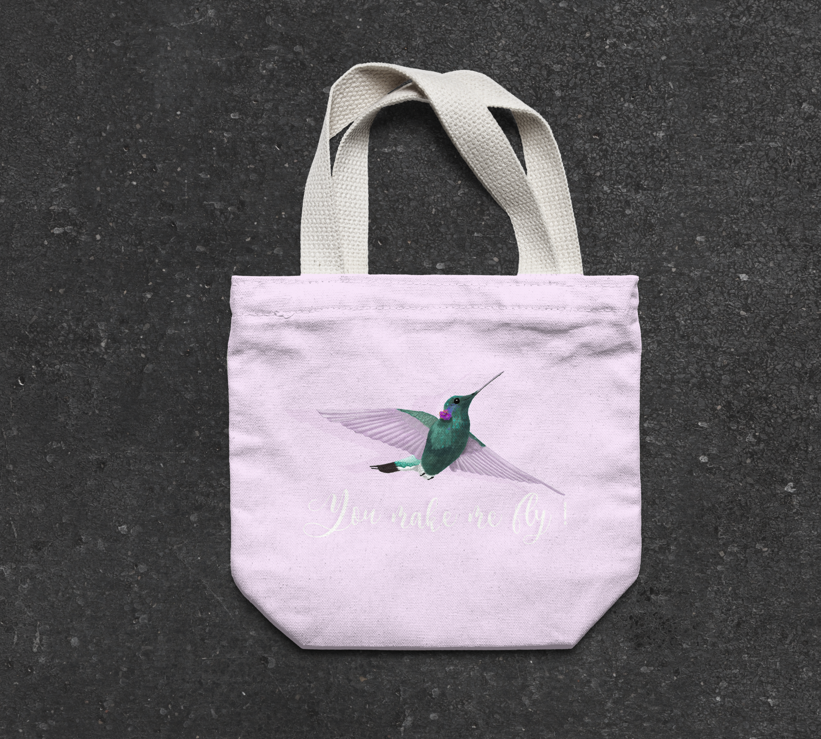 Humming bird tote bag by Cri Cri Studio