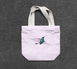 Humming bird tote bag by Cri Cri Studio