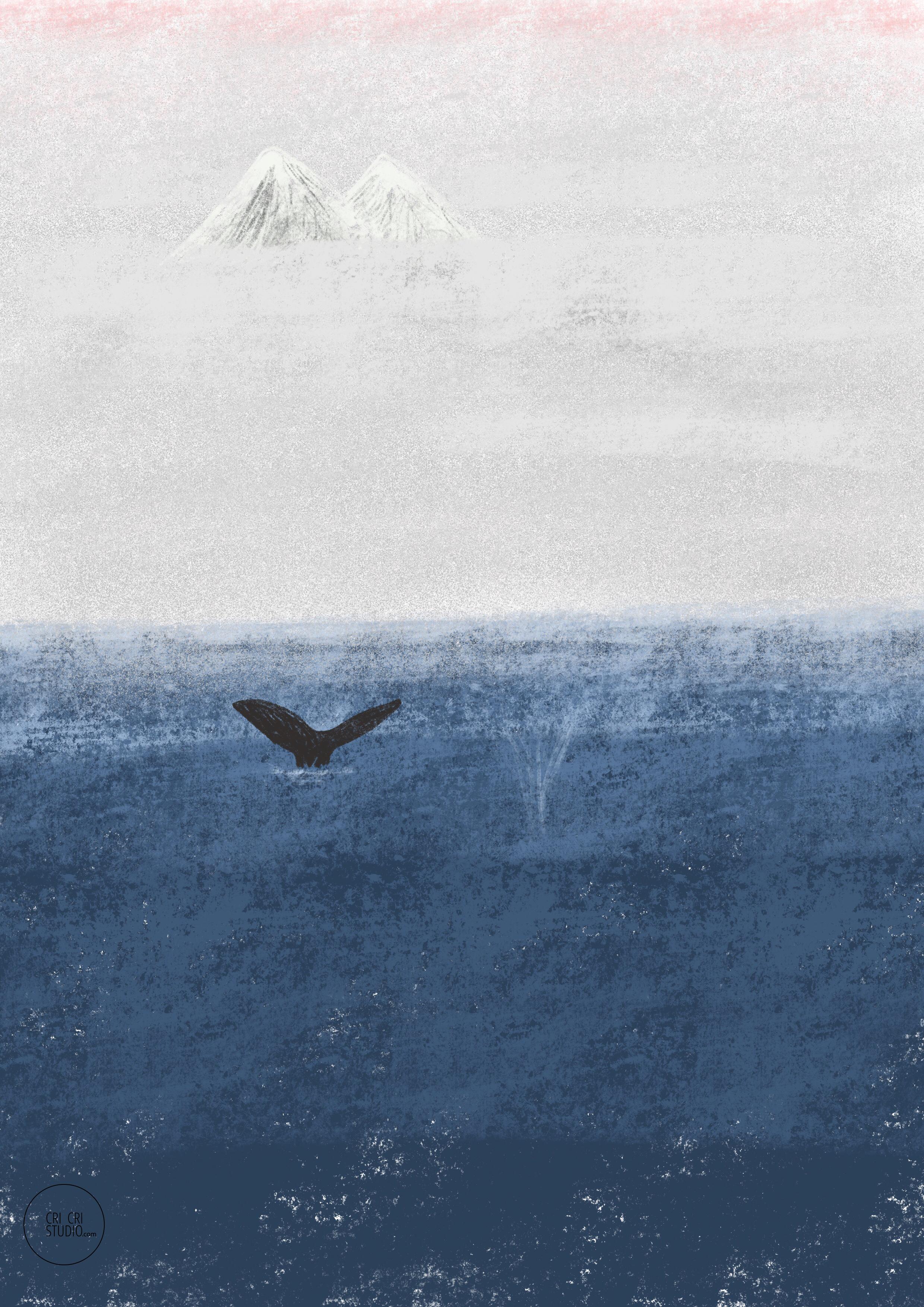 Zen whales by Cri Cri Studio