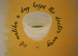 Matcha tea bowl by Cri Cri Studio