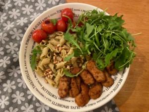 Pasta, Pesto & Vegetarische Stukjes