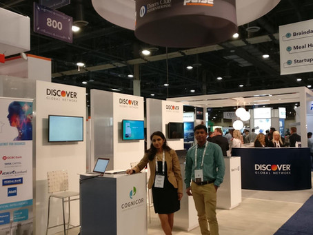 CogniCor team @Money20/20 in partnership with  Discover Financial
