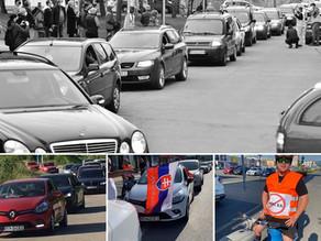 Protesty proti zbabranej parkovacej politike
