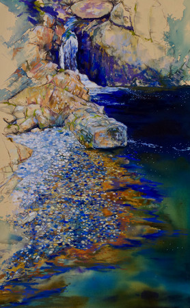 """Blue & White Pebbles"""