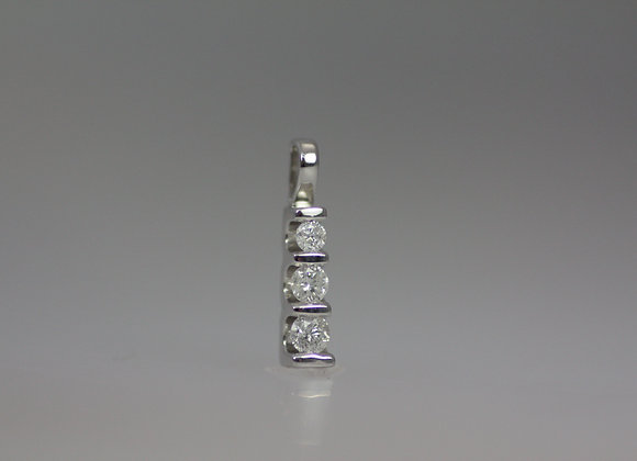 Three Tier Diamond Pendant