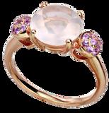 Macarons ring - Pink Quartz 18k Pink Gold
