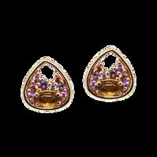 Boucles d'oreilles Pétales - Citrines Or Jaune 18k