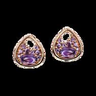 Petale earrings - Amethysts 18k Yellow Gold