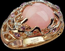 Bague Etoile de Mer - Opale Rose Or 18k