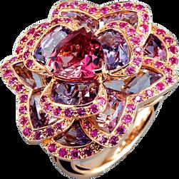 Lotus Pensée ring - Pink Tourmaline 18k Pink Gold