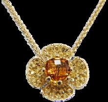 Flora Lotus necklace - Citrine 18k Yellow Gold