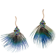 Panache earrings - Green Tourmaline 18k Pink Gold