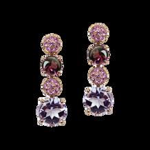 Macarons earrings - Rose de France 18k Pink Gold